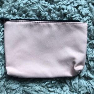 ipsy Bags - ipsy bag, pink with black lace, zippers shut